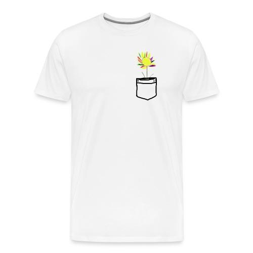Brusttasche mit ewiger Blume - Männer Premium T-Shirt