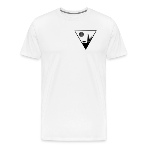 Pleine lune avec renard - T-shirt Premium Homme
