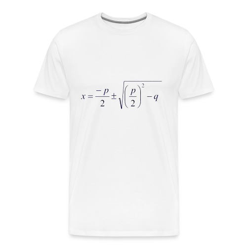 pq-Formel - Männer Premium T-Shirt