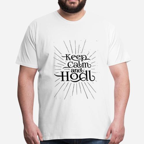 Keep Calm and Hodl - Vintage style - Camiseta premium hombre