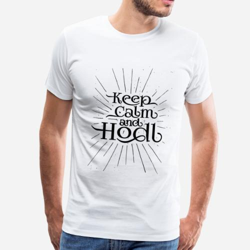 Keep Calm and Hodl - Vintage style - Camiseta premium hombre