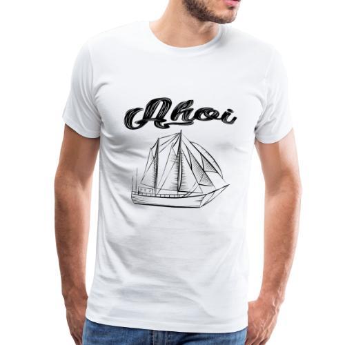 Ahoi Segelschiff - Männer Premium T-Shirt