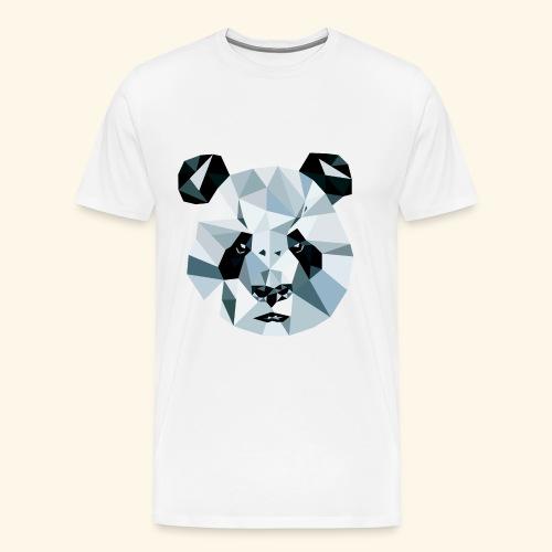 Panda Kopf 3D Polygon Comic - Männer Premium T-Shirt