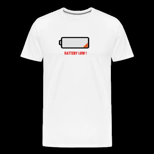 Battery Low - Männer Premium T-Shirt