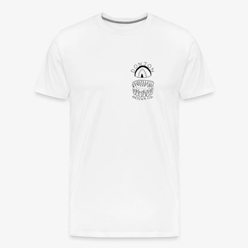 Donjon Cyclops Black Logo Print - Men's Premium T-Shirt