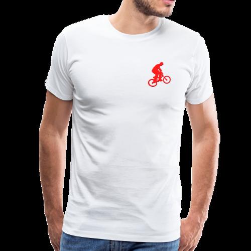 Red BMX Rider - Men's Premium T-Shirt
