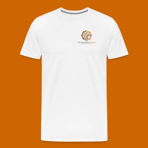 Clockwork-Orange Community Logo mit Schrift - Männer Premium T-Shirt