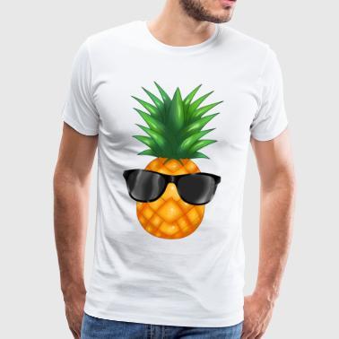 Ananas coolness tegneserie - Premium T-skjorte for menn