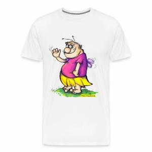 Die winkende Pummelfee - Männer Premium T-Shirt