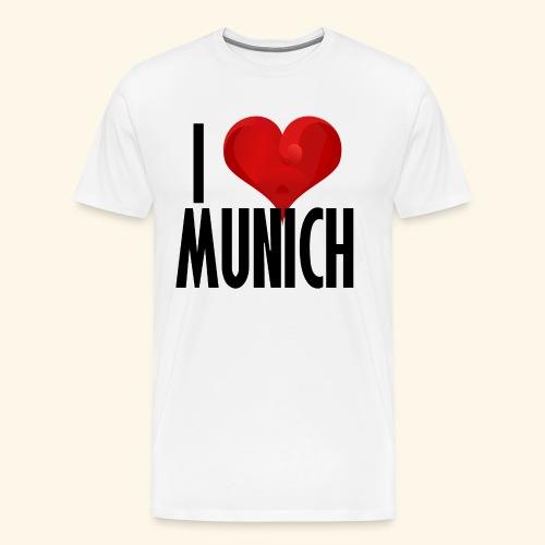 ICH LIEBE MUENCHEN schwarz - Männer Premium T-Shirt