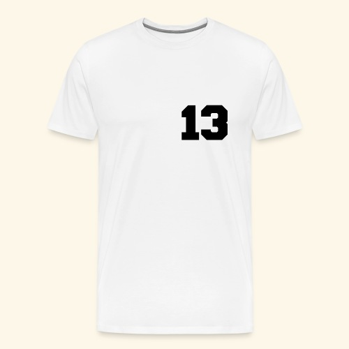 13 black - Männer Premium T-Shirt