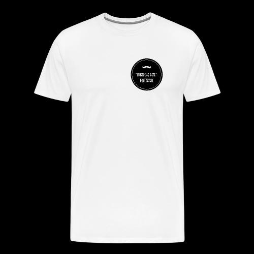Mustache Pete Logo 1 - Männer Premium T-Shirt