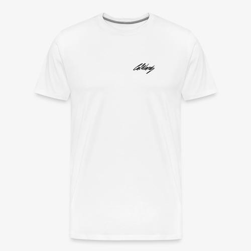 Cal Wardy Signature - White - Black Font - T-Shirt - Men's Premium T-Shirt