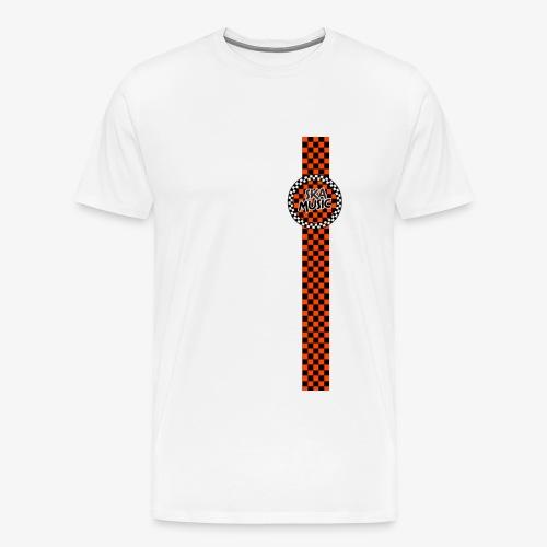 ska music orange black band design - Men's Premium T-Shirt