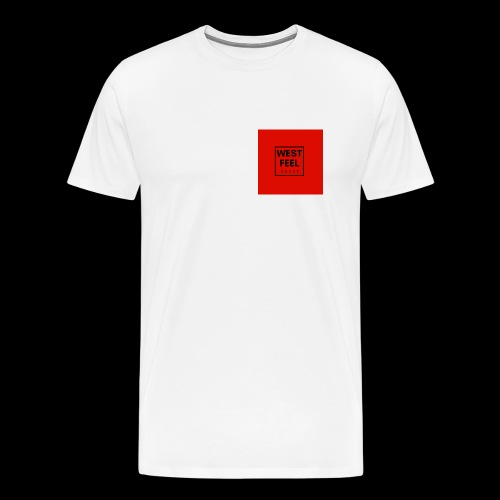 WEST FEEL logo rouge - T-shirt Premium Homme
