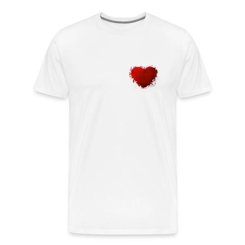 Herz paint - Männer Premium T-Shirt