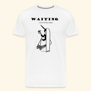 Waiting red star - Maglietta Premium da uomo