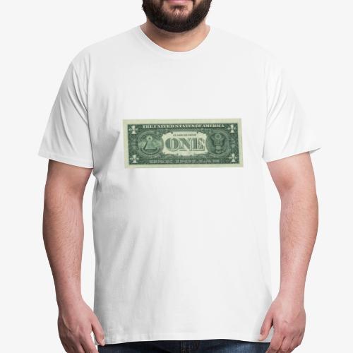 Dollar Note 1$ Geldschein - Männer Premium T-Shirt