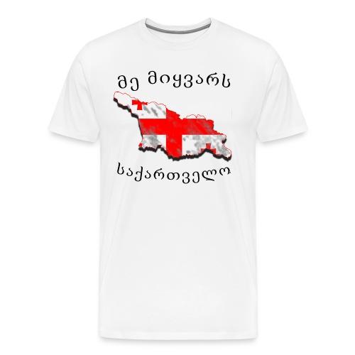 Ich liebe Georgien - Männer Premium T-Shirt