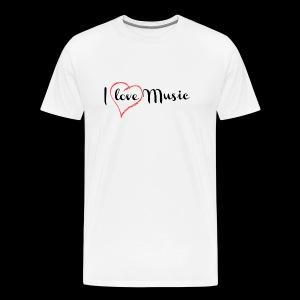 I Love Music - Camiseta premium hombre