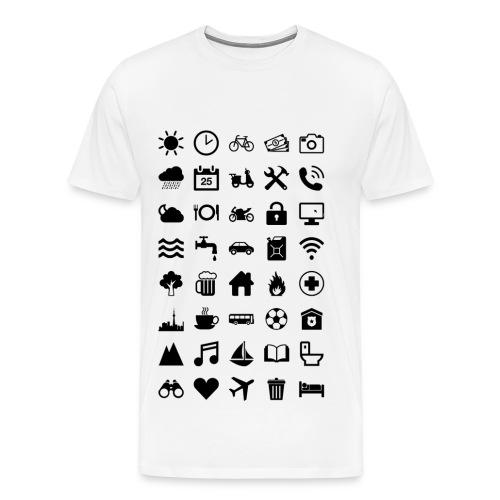 Travel Icons - Männer Premium T-Shirt