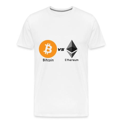 Bitcoin vs ethereum - Maglietta Premium da uomo