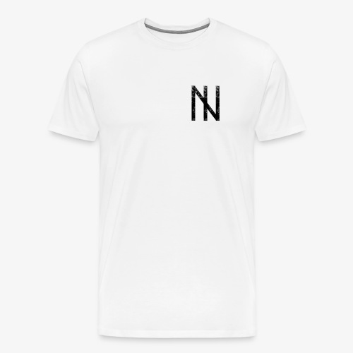 Black Logo on White - Männer Premium T-Shirt