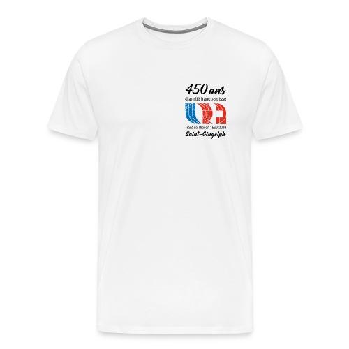 Logo 450 ans d'amitié franco-suisse Saint-Gingolph - T-shirt Premium Homme