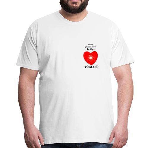Coeur brillant ...amoureux ou inspiré FC - T-shirt Premium Homme