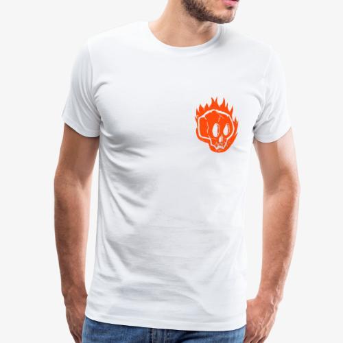 Burning skull - T-shirt Premium Homme
