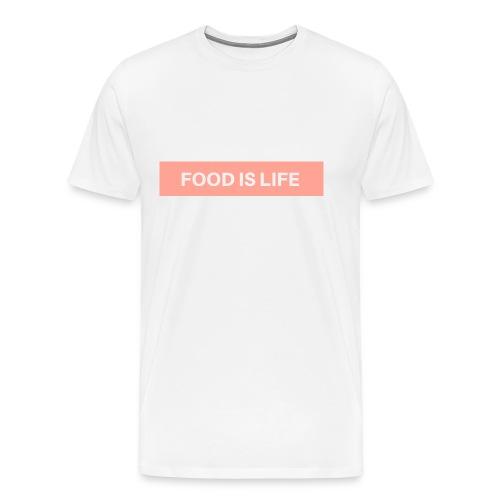 Food is life - Männer Premium T-Shirt