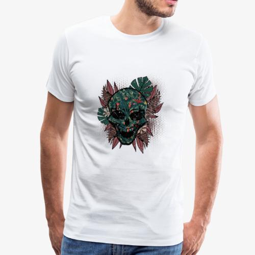 Schädel Mensch Halloween Urlaub Gothic Geschenk - Männer Premium T-Shirt