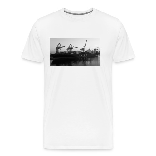 Containerschiff Schwarz/Weiß - Männer Premium T-Shirt