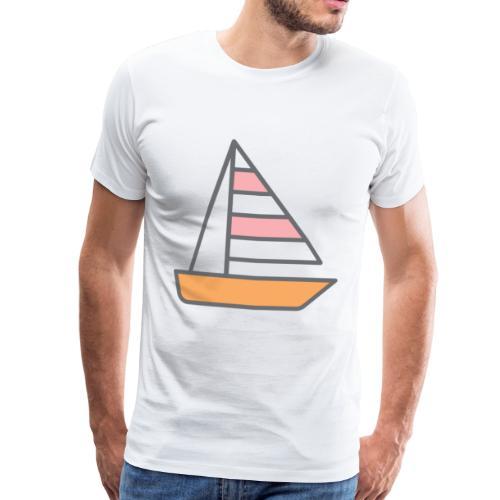 Seilbåt - Premium T-skjorte for menn