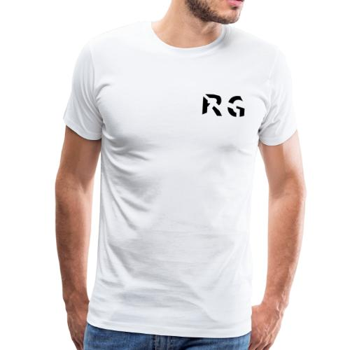 RG Zwart logo - Mannen Premium T-shirt