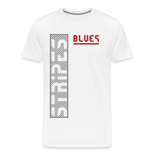 Blues Stripes - Miesten premium t-paita