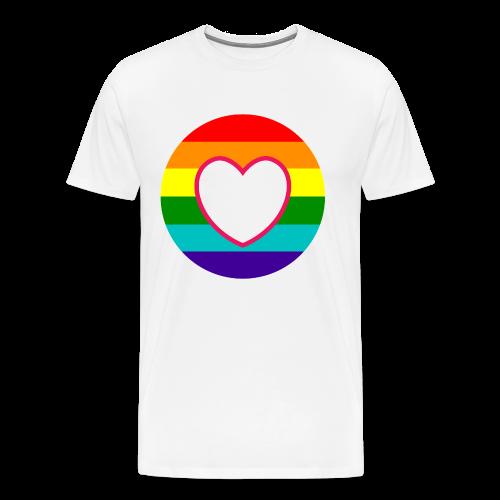Regenboog donut met hart in het midden - Mannen Premium T-shirt