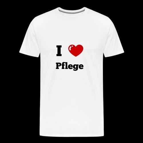 I LOVE PFLEGE - Männer Premium T-Shirt