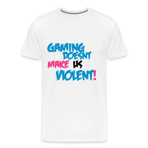 gaming doesnt make us violent - Men's Premium T-Shirt