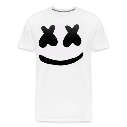 Marshmello face logo - Premium-T-shirt herr