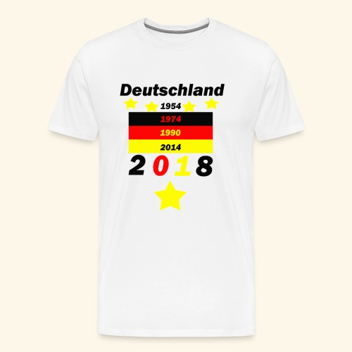 Deutschland 5 Sterne - Männer Premium T-Shirt