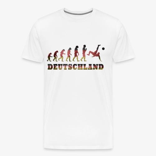 Evolution Fussball Deutschland - Männer Premium T-Shirt