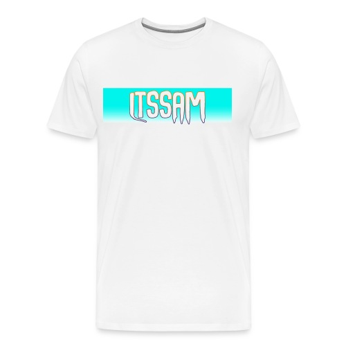 Classic ItsSam Box Logo Fade - Men's Premium T-Shirt