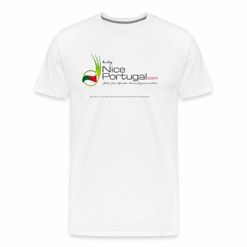NicePortugal.com Logo - Maglietta Premium da uomo