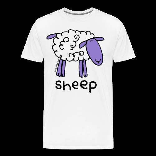 'sheep' - bang on the door - Men's Premium T-Shirt