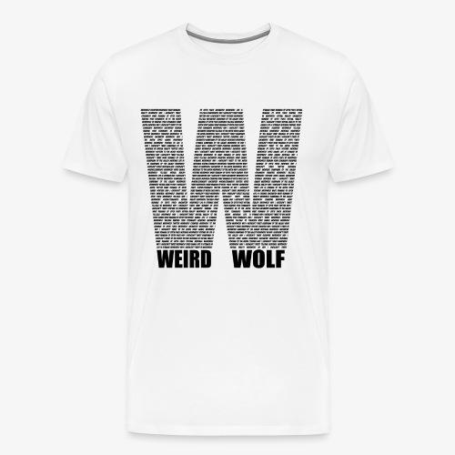 The Big W (Black) - Men's Premium T-Shirt