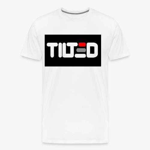 Tilted logo - Premium-T-shirt herr