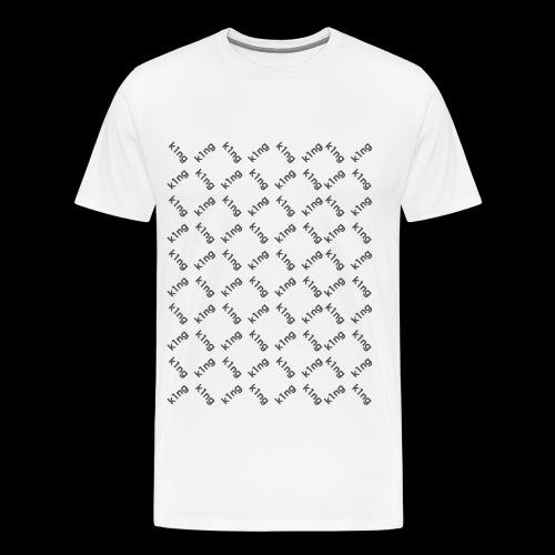 k1ng Muster - Männer Premium T-Shirt