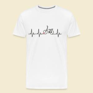 Radball   Heart Monitor Black - Männer Premium T-Shirt