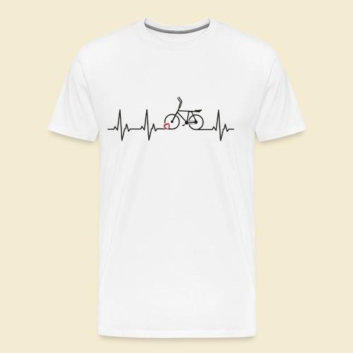 Radball | Heart Monitor Black - Männer Premium T-Shirt